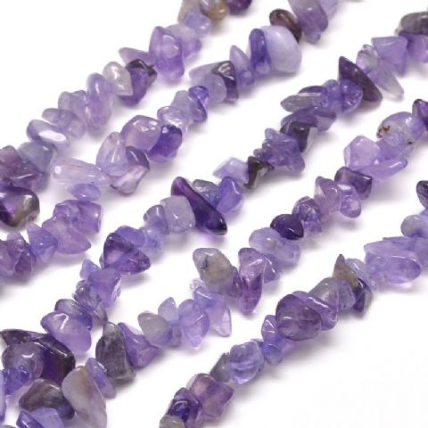 Beads - Natural Dyed Amethyst 5~8mm - 50g